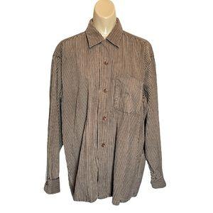 Sandy MacDonald Striped Corduroy Button Shirt